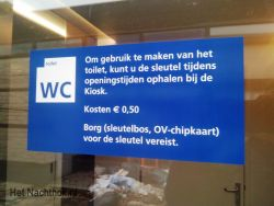 WC station harderwijk 50 cent